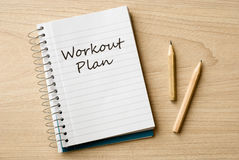 Workout plan Stock Photography