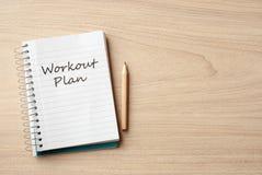 Workout plan Stock Photo
