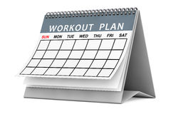 Workout Plane Calendar. 3d Rendering Royalty Free Stock Images