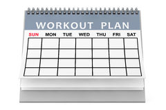 Workout Plane Calendar. 3d Rendering Stock Photography