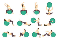 Workout for pregnant. Royalty Free Stock Photo