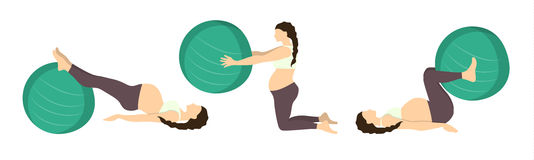 Workout for pregnant. Royalty Free Stock Photography