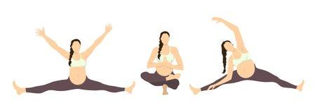 Workout for pregnant. Stock Photos