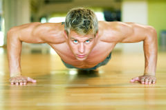 Workout - pushups Stock Image