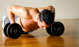 Workout - pushups Royalty Free Stock Images