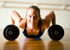 Workout - pushups Stock Images