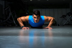 Workout Pushups Royalty Free Stock Photography