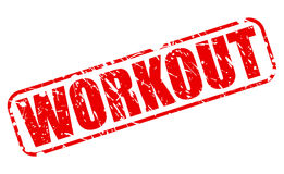 Workout red stamp text Royalty Free Stock Images