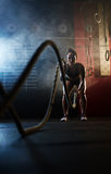 Workout with ropes Stock Images
