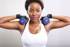 Workout routine stock images