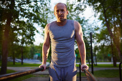 Workout on sport facilities Royalty Free Stock Photography