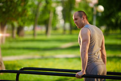 Workout on sport facilities Stock Photography