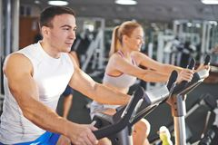 Workout in team Stock Images