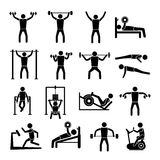 Workout Training Icons Set Royalty Free Stock Photos