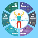 Workout training infographics Royalty Free Stock Photo