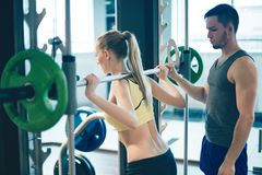 Workout with weight Stock Image