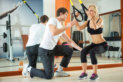 Workout With Fitness Straps Stock Photo
