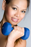 Workout Woman. Healthy asian workout woman smiling Royalty Free Stock Images
