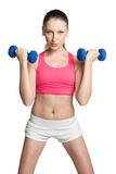 Workout Woman. Young healthy fitness workout woman Royalty Free Stock Images