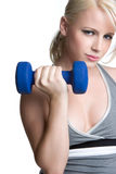 Workout Woman. Pretty blond healthy workout woman Royalty Free Stock Photos