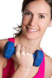 Workout Woman. Fitness weight lifting workout woman Stock Photos