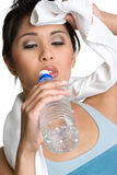Workout Woman. Healthy workout woman drinking water Stock Image