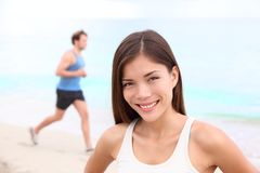 Workout woman portrait Stock Photos