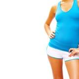 Workout Woman On White Royalty Free Stock Photos