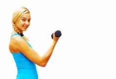 Workout Woman On White Stock Photo