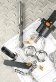 workpiece инструмента горизонтального сверлильного станка Стоковые Изображения RF