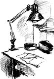 Workplace. The black-and-white image a workplace Royalty Free Illustration