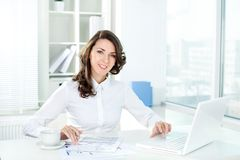 At workplace Royalty Free Stock Photo