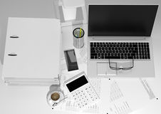 Workplace accountant Royalty Free Stock Photos