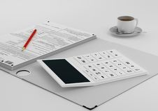 Workplace accountant Royalty Free Stock Photo