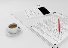 Workplace accountant Royalty Free Stock Photography