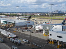 Workplace airport Sydney Royalty Free Stock Image