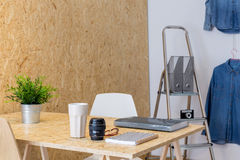 Workplace of amateur photographer Stock Images