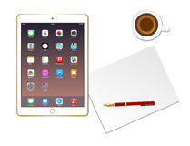 Workplace With Apple Ipad. Air vector eps 10 Stock Photos