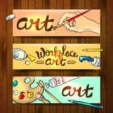 Workplace art Stock Photos