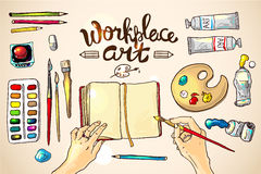 Workplace art Stock Photography