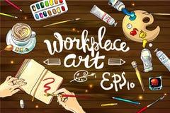 Workplace art Stock Photo