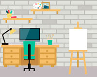 Workplace artist Stock Photo