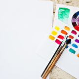 Workplace artist Royalty Free Stock Photos