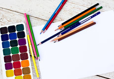 Workplace artist Stock Photography