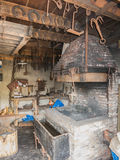 Workplace of a blacksmith Royalty Free Stock Image