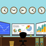 Workplace broker. Stock illustration. Royalty Free Stock Photography