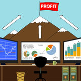Workplace broker. Stock illustration. Stock Image