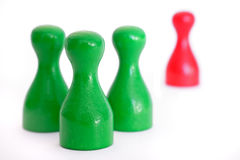 Workplace bullying. Some figures symbolizing harassment in the workplace Royalty Free Stock Image