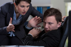 Workplace bullying Royalty Free Stock Photos