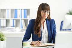 At workplace Royalty Free Stock Photos